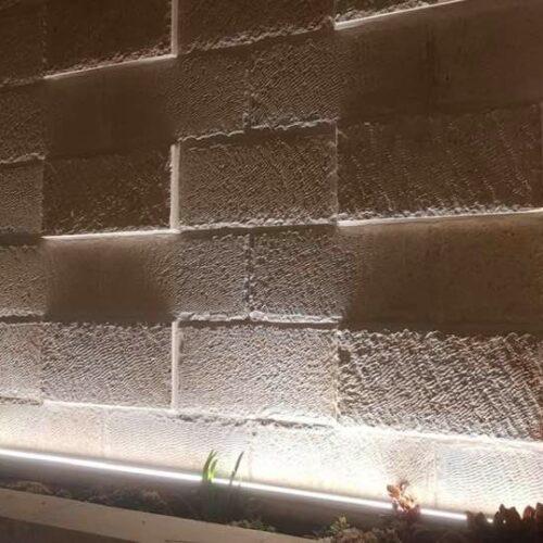 פרופיל פריז- שטיפת קיר תאורת חוץ