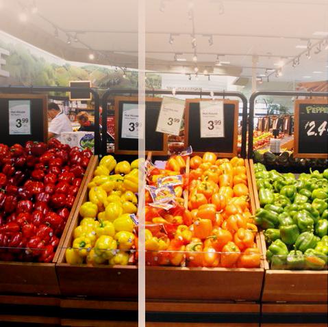 תאורה מחמיאה לירקות ופירות- פריז